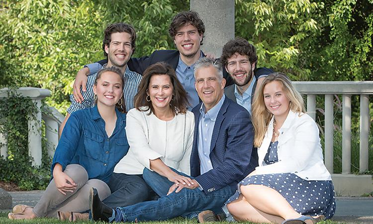 gretchen whitmer with her family