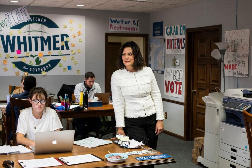 gretchen whitmer in campaign office